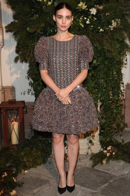 <strong>Rooney Mara</strong><br><br> GIRLY: Looking like a divine doll in Chanel.