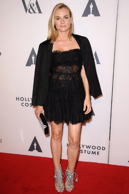 <strong>Diane Kruger</strong><br> <strong>DARING: </strong>In the sheer in Elie Saab.