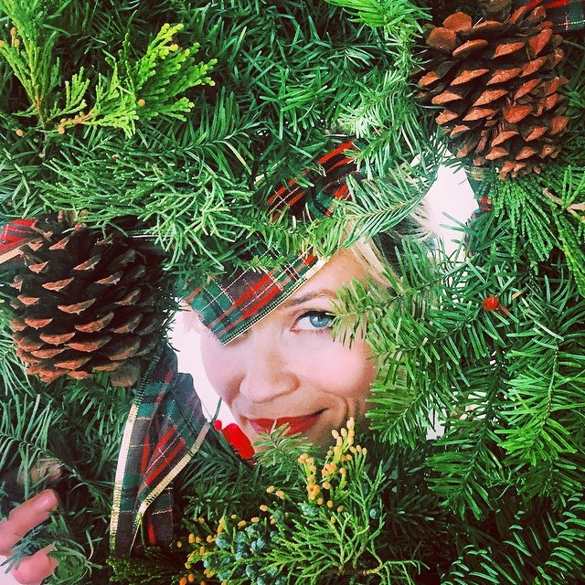 "<strong>Reese Witherspoon</strong> <br> After Mindy Kaling created ""Wreath Witherspoon"" on her show The Mindy Project this month, a wreath made out of images of Reese Witherspoon, the real Reese couldn't resist posting this shot of her very own ""Wreath Witherspoon"". Kaling's response? ""You win Christmas, Queen Ree!"" <br><br> Instagram: @reesewitherspoon"