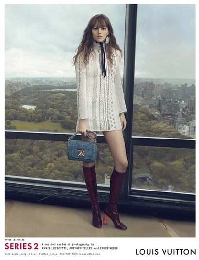 "<strong>First look: Louis Vuitton </strong><br> Check your feed! The French fashion house's creative director, Nicolas Ghesquière, unveiled the brand's spring/summer 2015 campaign on his <a href=""http://instagram.com/nicolasghesquiereofficial"">Instragram</a> account. For the second season in a row he tapped legendary photographers Annie Leibovitz, Bruce Weber and Juergen Teller to shoot the ads.  The models/muses? Jennifer Connelly, Jean Campbell and Freja Beha Erichsen. The full drop will be revealed in the new year. Watch this space. <br><br> <em>Freja Beha Erichsen by Annie Leibovitz for Louis Vuitton S/S 15 </em>"