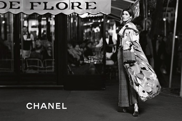 <strong>Gisele's full Chanel campaign revealed </strong><br> Shot by Karl Lagerfeld, the spring/summer 2015 campaign shows the 34-year-old beauty taking to the streets of Paris and posing pretty in front of the city's most iconic hot spots. J'adore.