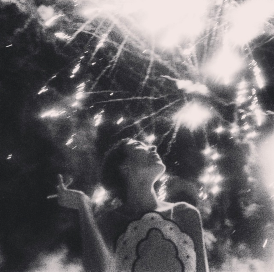 @chungalexa also posed under a flurry of fireworks