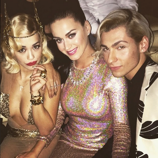 @ritaora partied in NYC with Katy Perry and stylist Kyle Devolle