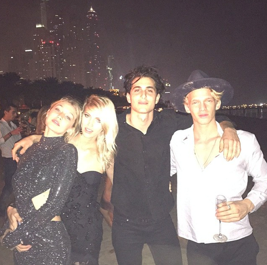 @gigihadid, Dev Windsor, Fai Khadra and Cody Simpson were also in Dubai
