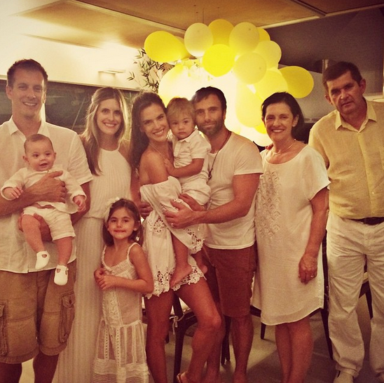 @alessandraambrosio spent it with her family