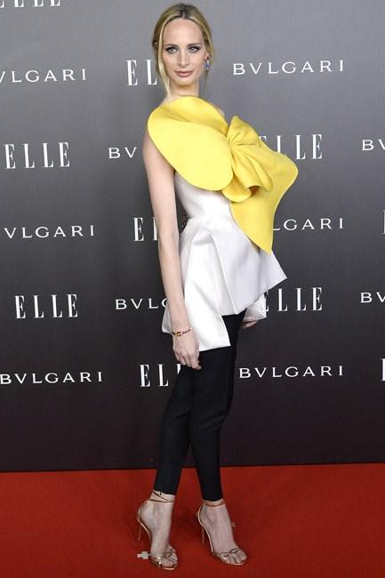 Lauren Santo Domingo looked blooming beautiful at an <em>Elle</em> party in Madrid.