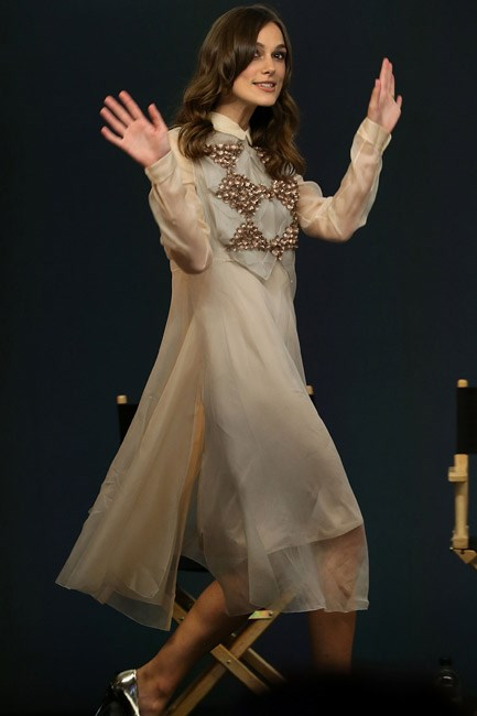 Keira Knightley was the epitome of bohemian glamour at an event for her film <em>Begin Again</em>, in London.
