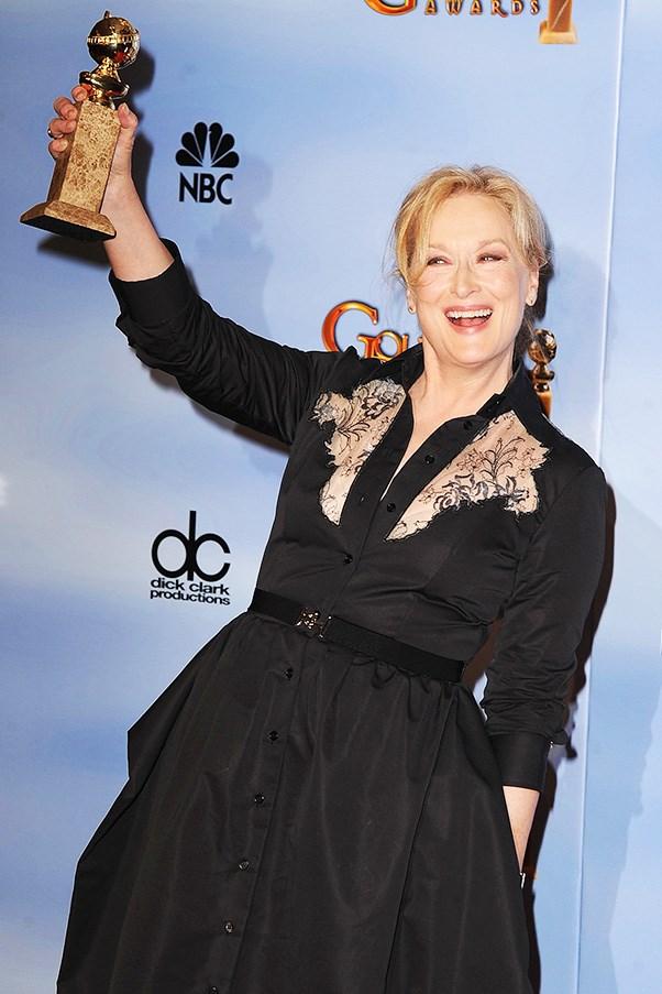 Meryl Streep at the Golden Globes