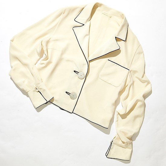 Vintage cream silk shirt