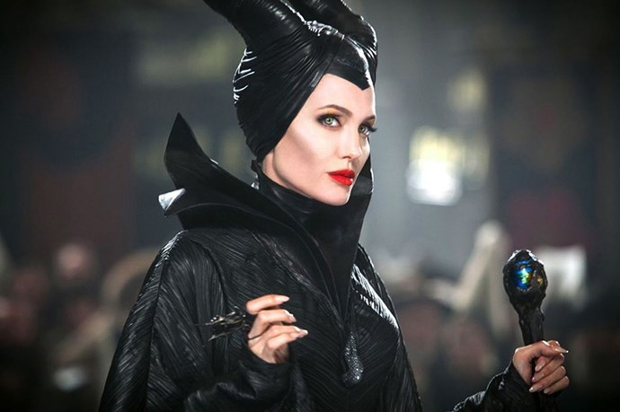 Angelina Jolie in <em>Maleficent</em>. If only there was an award for the year's best cheekbones.