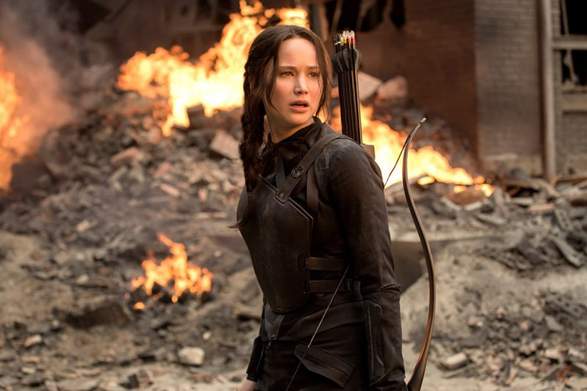 Jennifer Lawrence in <em>The Hunger Games: Mockingjay – Part 1</em>. What's an awards night without J-Law? Seriously.