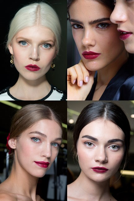 Ink puckers at Dolce & Gabbana spring/summer 2015.
