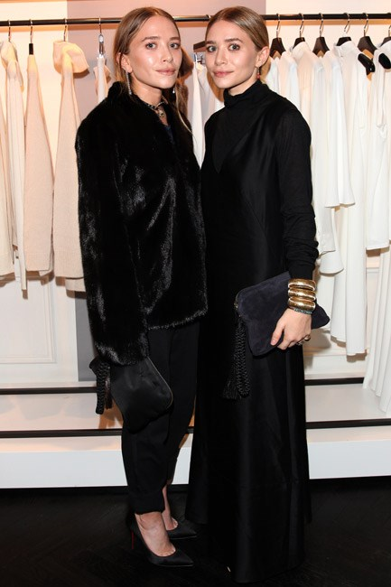 <strong>Mary-Kate and Ashley Olsen</strong><br> One on the left, one on the right, turned in…