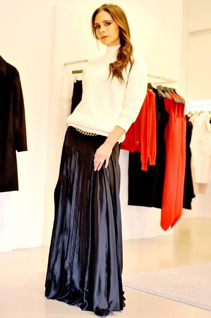 <strong>Victoria Beckham</strong><br> An <em>instantly</em> recognisable lean.