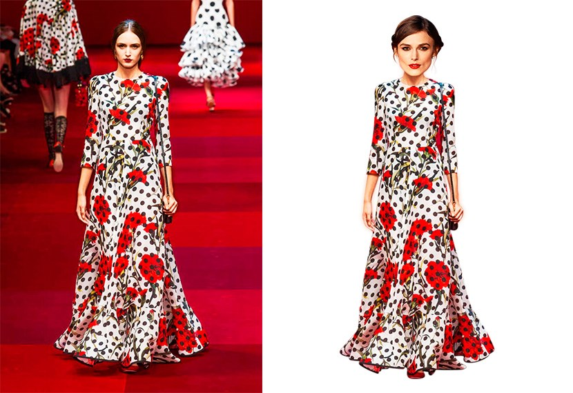 <strong>Keira Knightley <br></strong> Nominated for: Best Supporting Actress in a Motion Picture  <br> What we predict she might wear: <strong>Dolce & Gabbana SS15</strong> (but more likely custom Chanel) <br> Hair style prediction:  a glamour 'do <br> Lip colour: royal red <br>