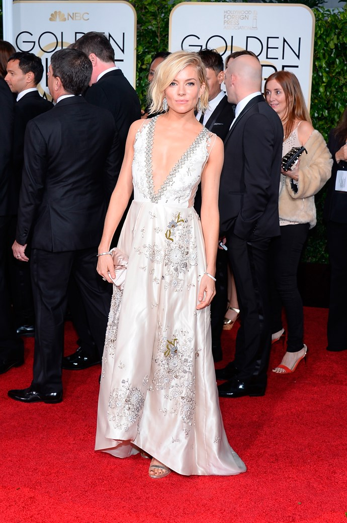 Sienna Miller at the Golden Globes