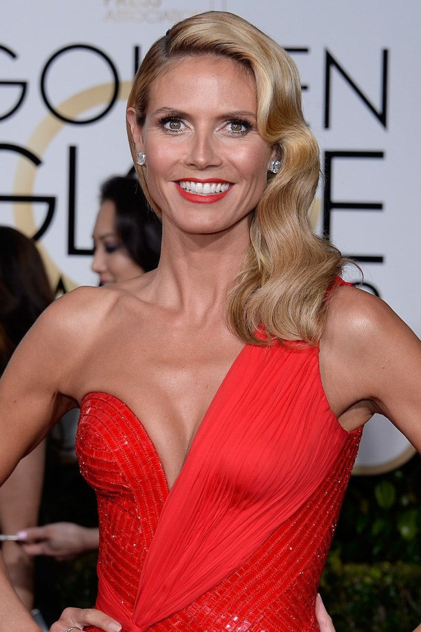 """<strong>Heidi Klum <br><br></strong><br> """"Well if Barbie was the inspiration Heidi and her entourage win the golden trophy today for sure. I don't know, it's just all a bit fake for me. If it counts, I'm a fan of Klum's creamy blonde hair colour which my clients always reference when sitting at the RAW Anthony Nader Colour Bar,"""" Anthony Nader, <a href=""""http://rawhair.com.au/"""">Rawhair.com.au </a>"""