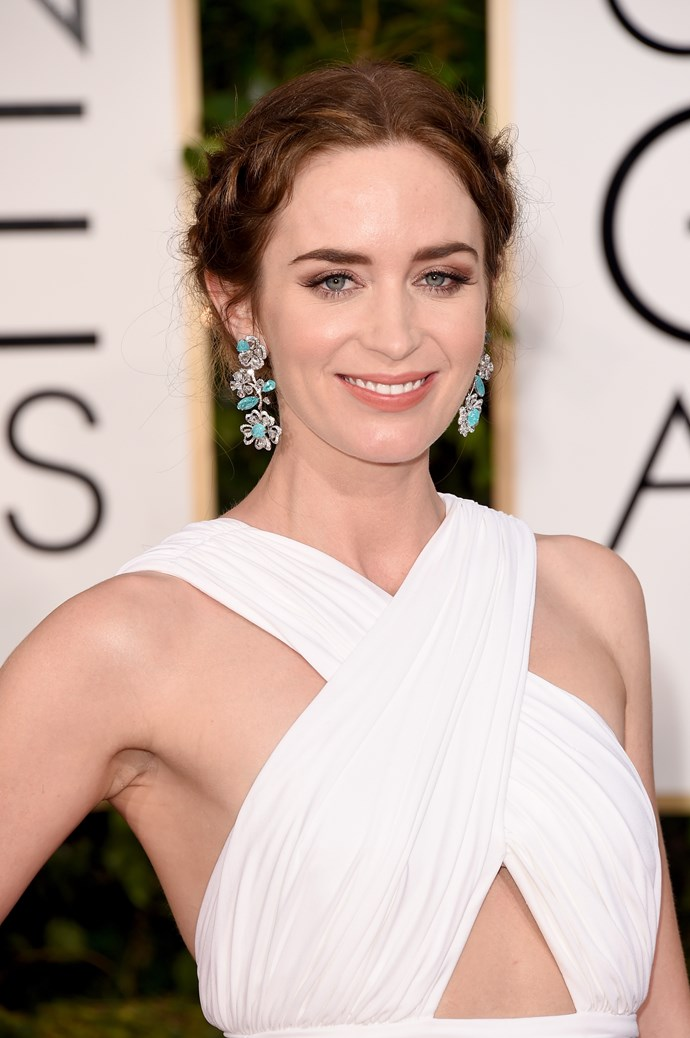 """<strong>Emily Blunt<br><br> </strong> """"I'm all about a rough looking braid, it's ever so timeless and can be worn for any occasion. The secret is making sure your braid looks effortless is to ensure it's not too tight on your head."""" said Anthony Nader."""
