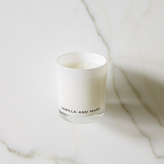"This candle looks and smells divine. Shame we aren't allowed to light them in the office! <a href=""http://www.camillaandmarc.com/rose-and-blackcurrent.html"">Rose and blackcurrant candle, $55, Camilla and Marc, camillaandmarc.com</a>"