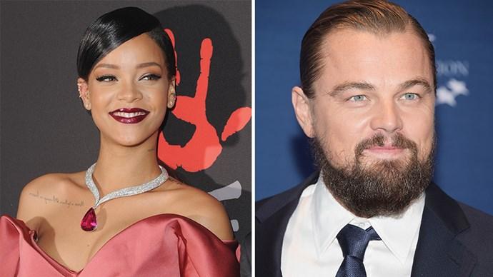 Rihanne and Leonardo DiCaprio