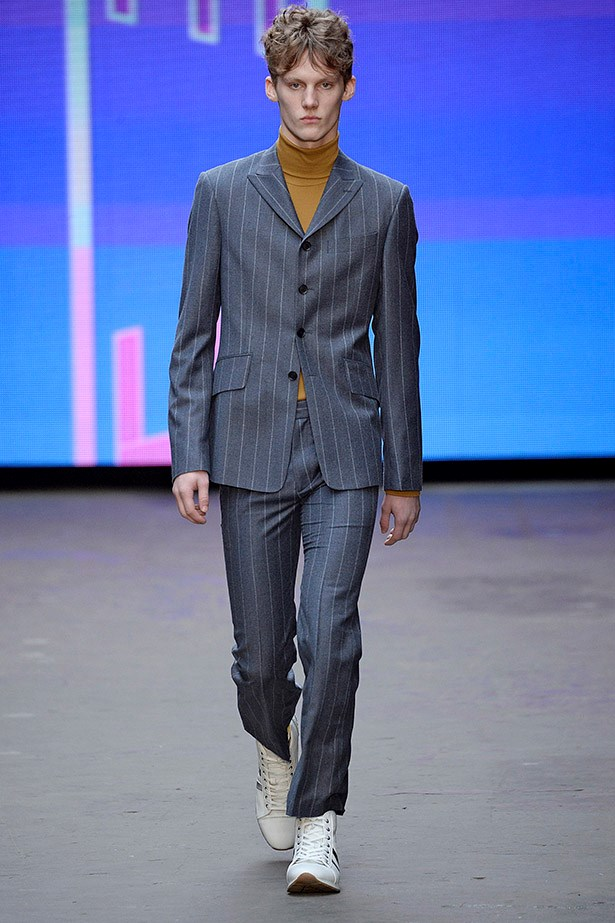 Chunky sneakers and slim suits - your muse is Dave from finance. <em>Topman Design aw15</em>