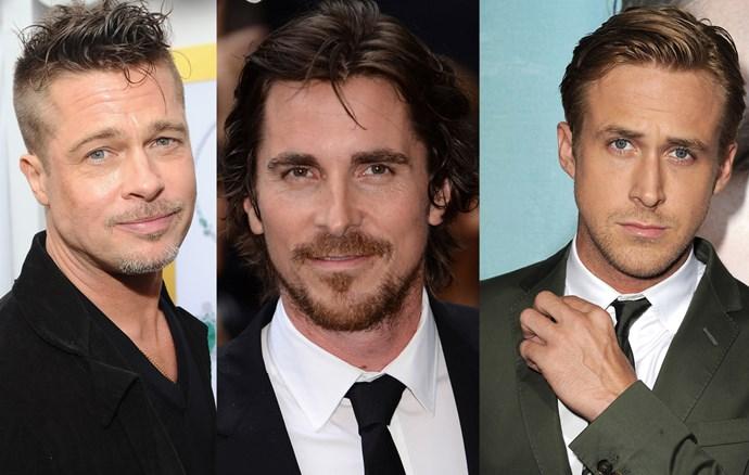 Brad Pitt, Ryan Gosling and Christian Bale