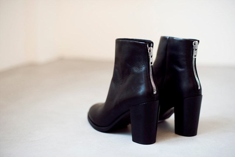H&M real leather ankle boots