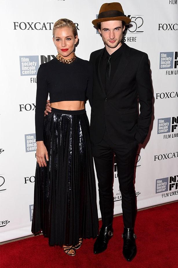 Attending the <em>Foxcatcher </em>premiere at the 52nd New York Film Festival with fiancé, Tom Sturridge