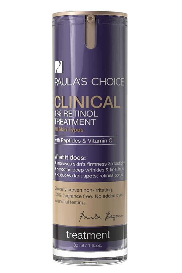 "Clinical 1% Retinol Treatment, $77, Paula's Choice, <a href=""http://www.paulaschoice.com.au/"">paulaschoice.com.au</a>"