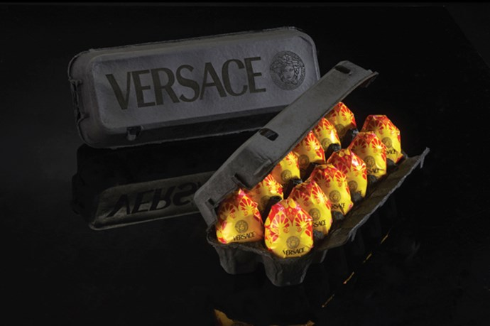 <strong>Eggs by Versace</strong><br> We have an inkling they'd be golden, too.