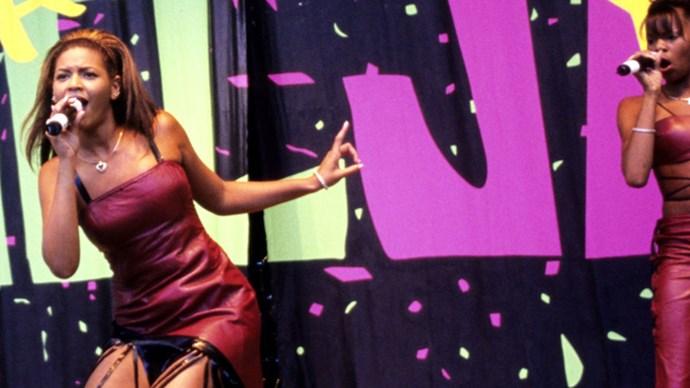 Beyonce doing backup vocals