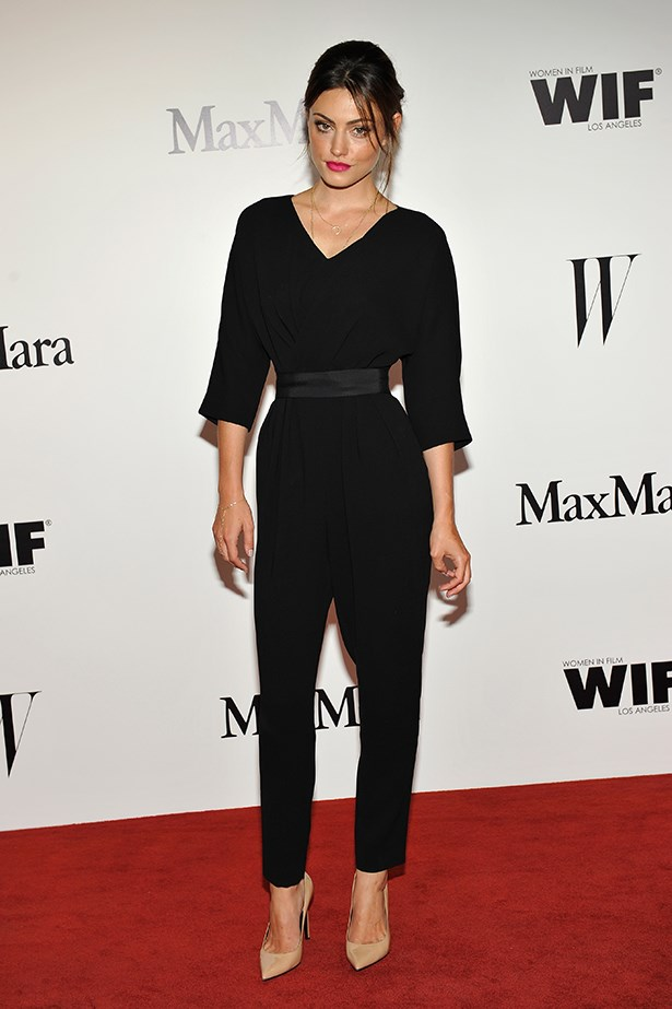 Phoebe Tonkin wearing MaxMara at the MaxMara and W Magazine Cocktail Party in 2013 to honour The Women in Film.