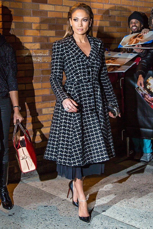 <strong>The glam-klet:</strong> On her latest press tour for The Boy Next Door, Jennifer Lopez sported a diamond-encrusted ankle adornment.