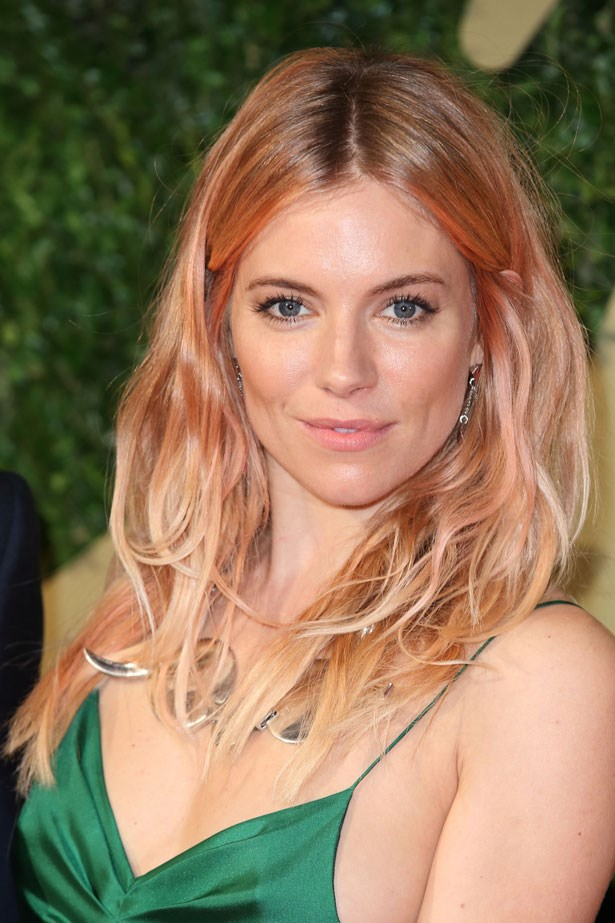 The reigning queen of wearable pink hair, sienna wowed with this rose gold colour at the British Fashion Awards in 2013.