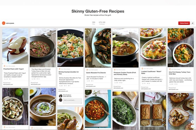 "<a href=""http://www.pinterest.com/skinnytaste/skinny-gluten-free-recipes/""><strong>Skinny Gluten Free Recipes by SkinnyTaste</strong></a><br><br> If you eat gluten free religiously, you'll know that often, it isn't the healthier option - gluten free products are loaded with refined sugars, lots of carbs and fake ingredients. So instead, opt for wholefood options that are gluten free, but still full of nutrients. As many of the recipes on this board are. Think: Stuffed turkey breats with squash and figs, turkey tacos with lettuce wraps, spicey prawns with chillies and garlic and balsamix roast port. YUM."
