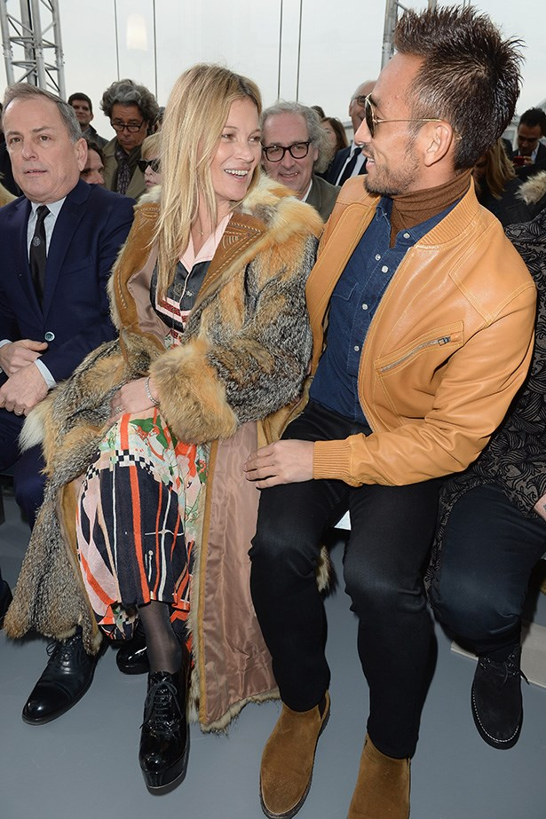<strong>PARIS: </strong>Kate Moss and Japanese ex-football player Hidetoshi Nakata sat in the frow at Louis Vuitton.