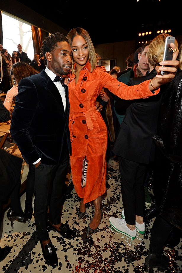 <strong>LONDON: </strong>Tinie Tempah and Jourdan Dunn selfie-d it up front row at Burberry Prorsum.