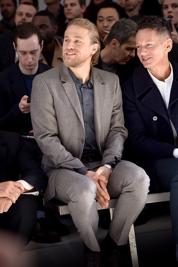 <strong>MILAN: </strong>Charlie Hunnam attended the Calvin Klein Collection show.