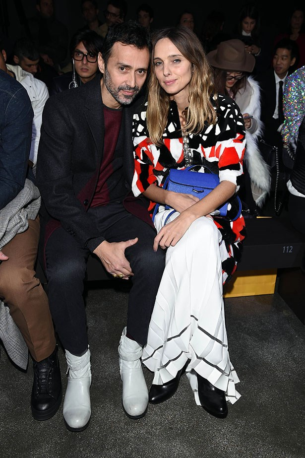 <strong>MILAN:</strong> Candela and Fabio Novembre sat front row at the Fendi show.