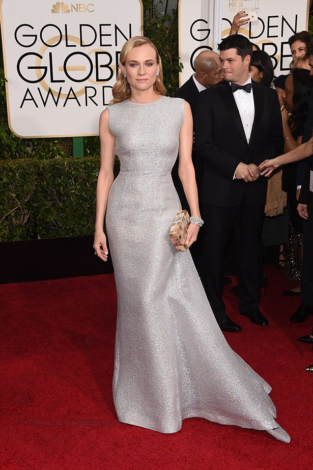 Diane Kruger at the 72nd Annual Golden Globes this year wearing Emilia Wickstead.