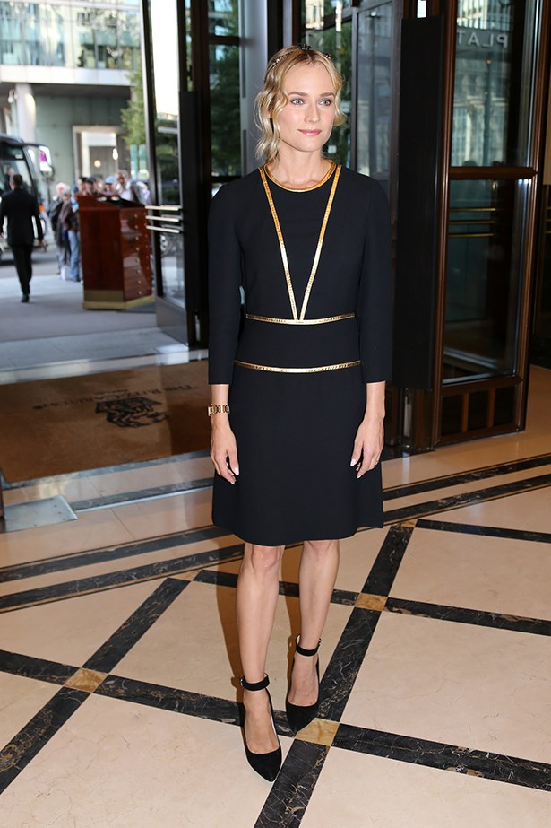 Diane Kruger wearing Prada at the Reopening of the Boulevard of Stars, September 2014.