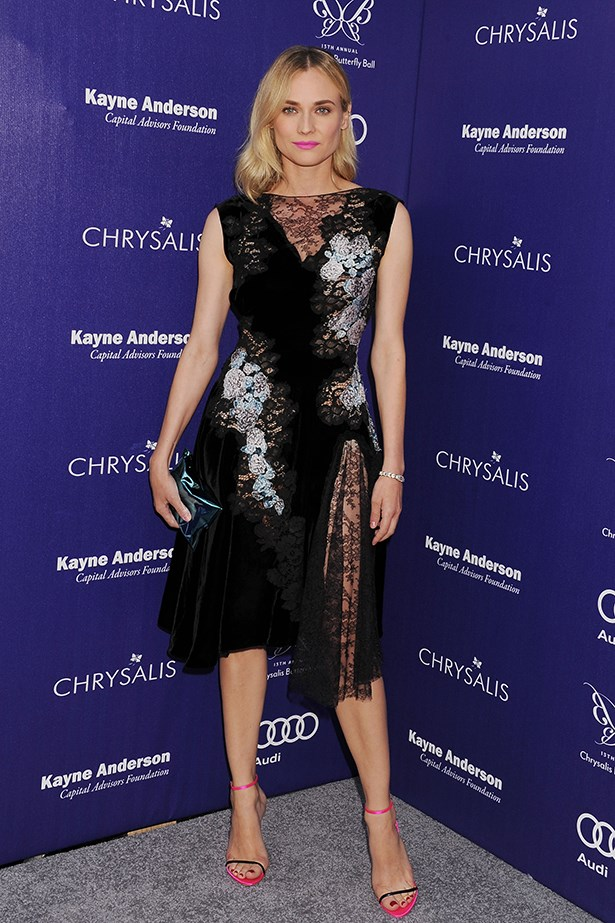 Diane Kruger at the 13th Annual Chrysalis Butterfly Ball wearing Nina Ricci, June last year.