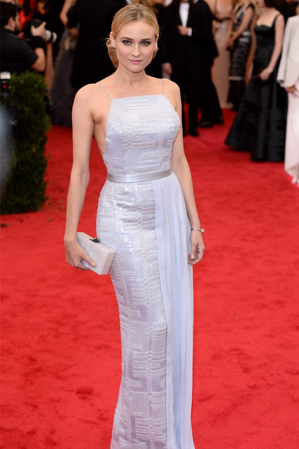 Diane Kruger wearing Hugo Boss at the 2014 Met Gala.