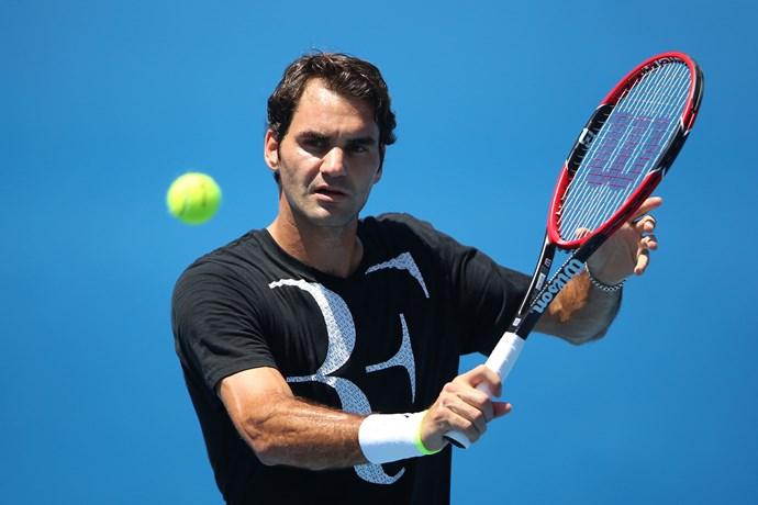 Roger Federer at the Australian Open