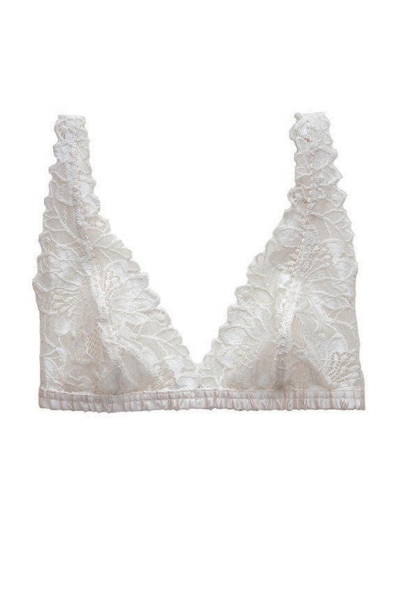 "Bra, $80, Lonely, <a href=""http://lonelylabel.com/collections/lonely/products/florasoftcupbra"">lonelylabel.com</a>"