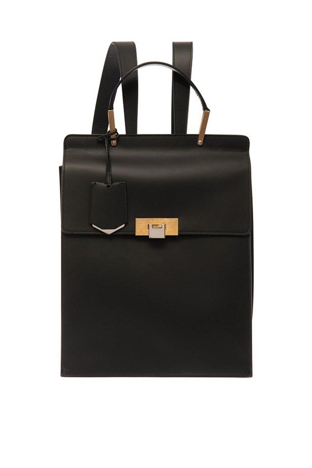 "Backpack, $1912, Balenciaga, <a href=""http://www.matchesfashion.com/product/203709"">matchesfashion.com</a>"