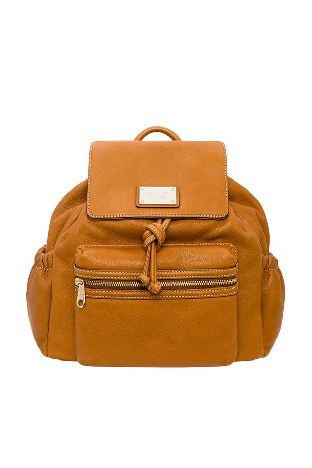 "Backpack, $695, Oroton, <a href=""http://www.oroton.com.au/tour-backpack/w1/i3831567/"">oroton.com.au</a>"