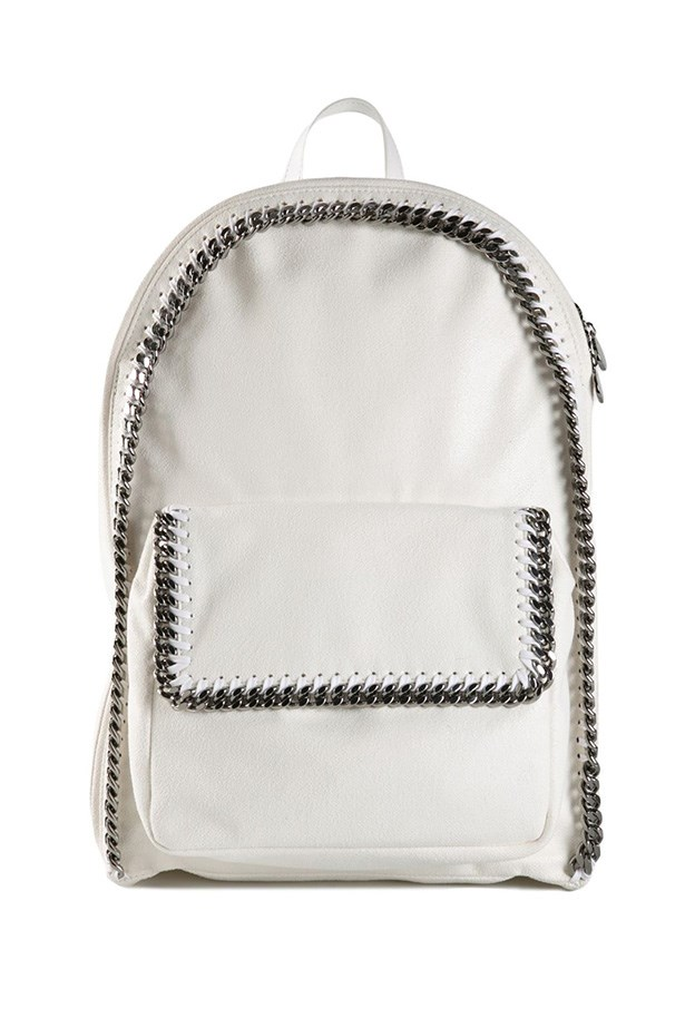"Backpack, $2300, Stella McCartney, <a href=""http://www.farfetch.com/au/shopping/women/le-bon-marche-x-the-webster-stella-mccartney-falabella-backpack-item-10920168.aspx?storeid=9352&ffref=lp_82_ "">farfetch.com</a>"