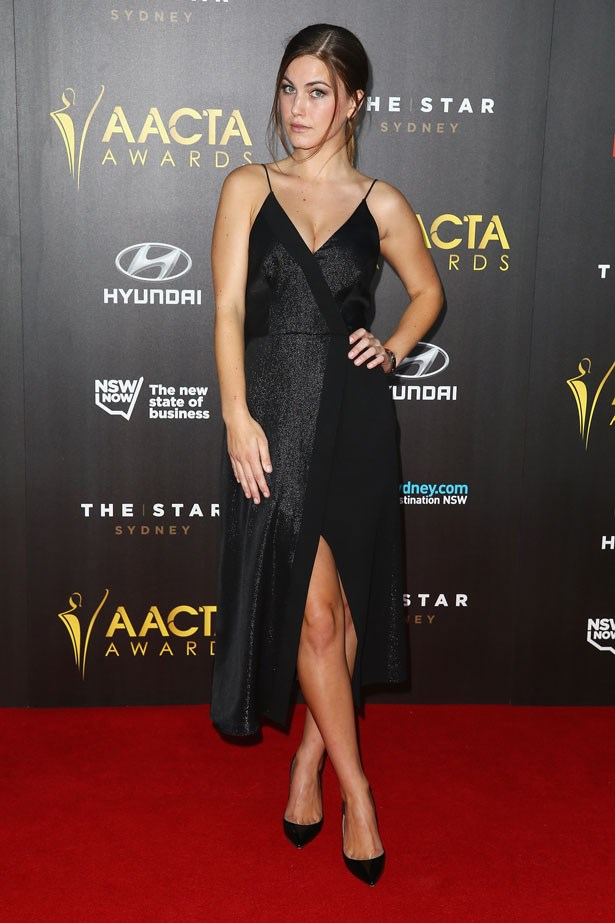 Charlotte Best wore a strappy, shimmery number.