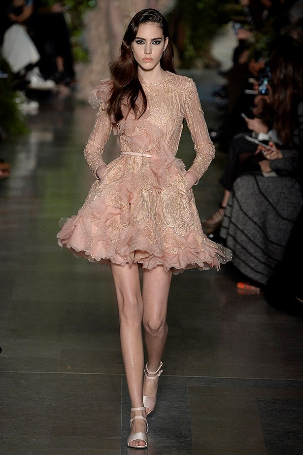 """<strong>Laura Culbert, deputy chief sub-editor</strong> <br /> <br /> """"Fun, feminine and flirty – just the way I like it"""" <em>Elie Saab couture, spring 15</em>"""